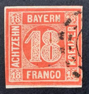 Bayern 18 Kreuzer gestempelt